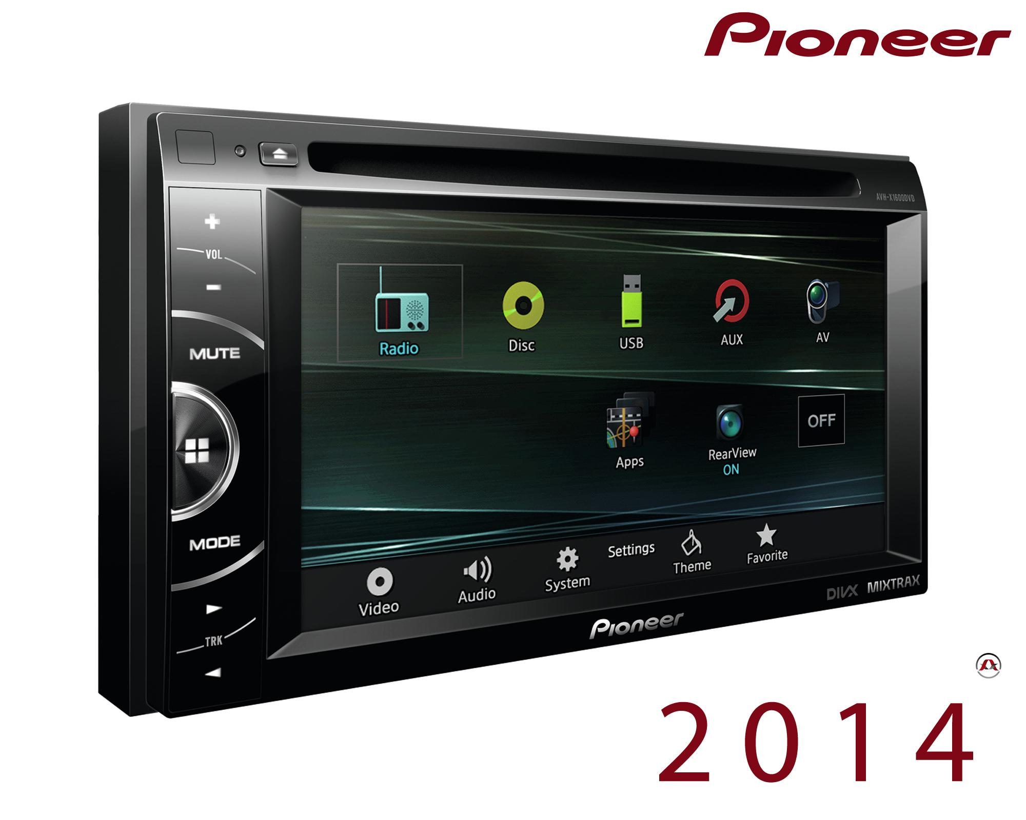 autoradio dvd pioneer avh x1600dvd 212235. Black Bedroom Furniture Sets. Home Design Ideas