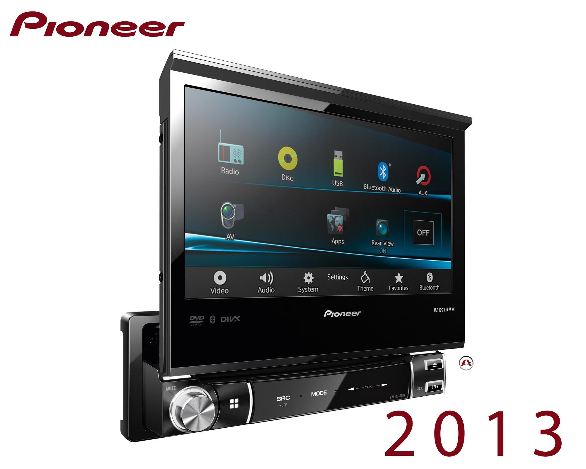 autoradio dvd pioneer avh x7500bt motorise 204287. Black Bedroom Furniture Sets. Home Design Ideas