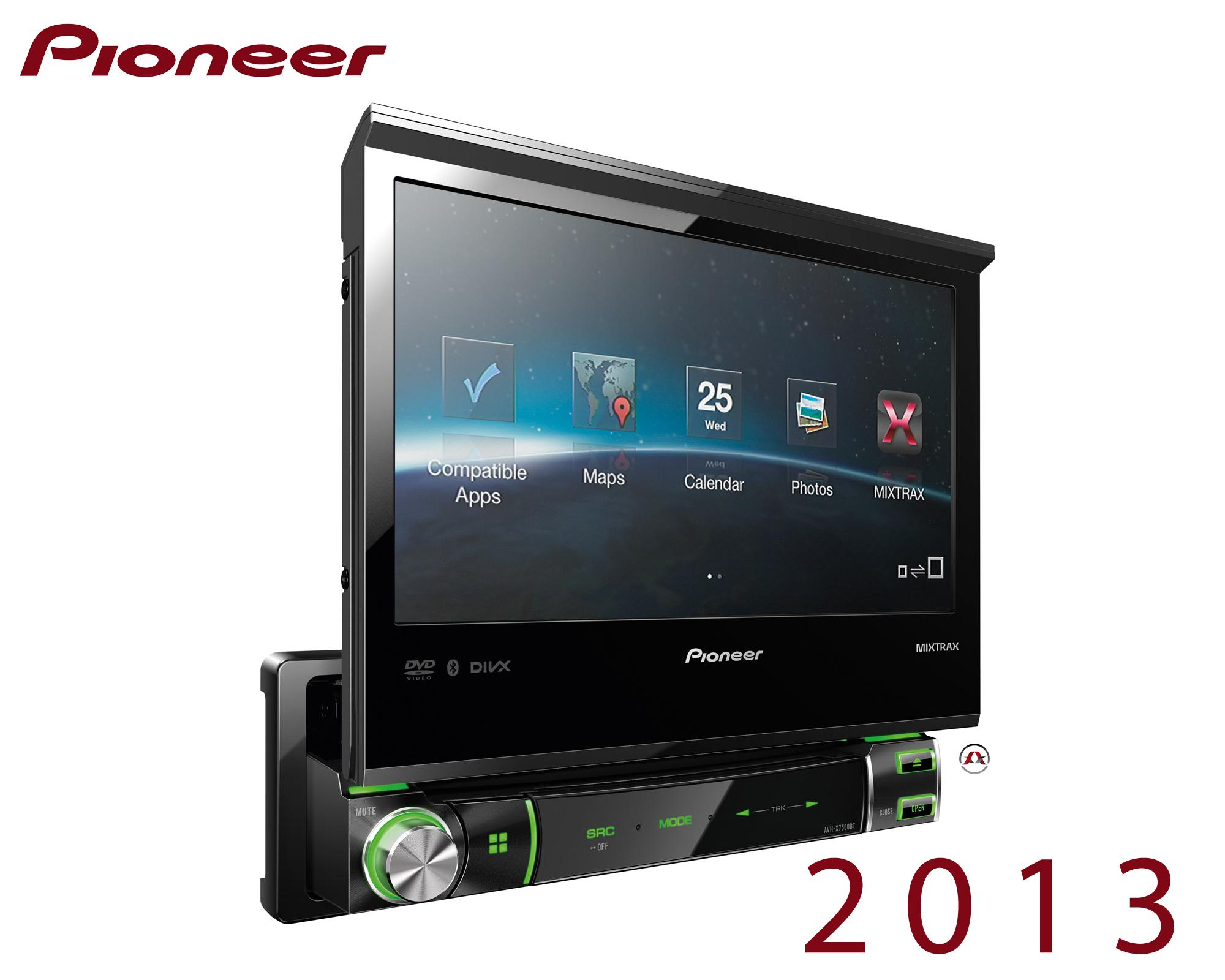 autoradio dvd pioneer avh x7500bt motorise 204287. Black Bedroom Furniture Sets. Home Design Ideas