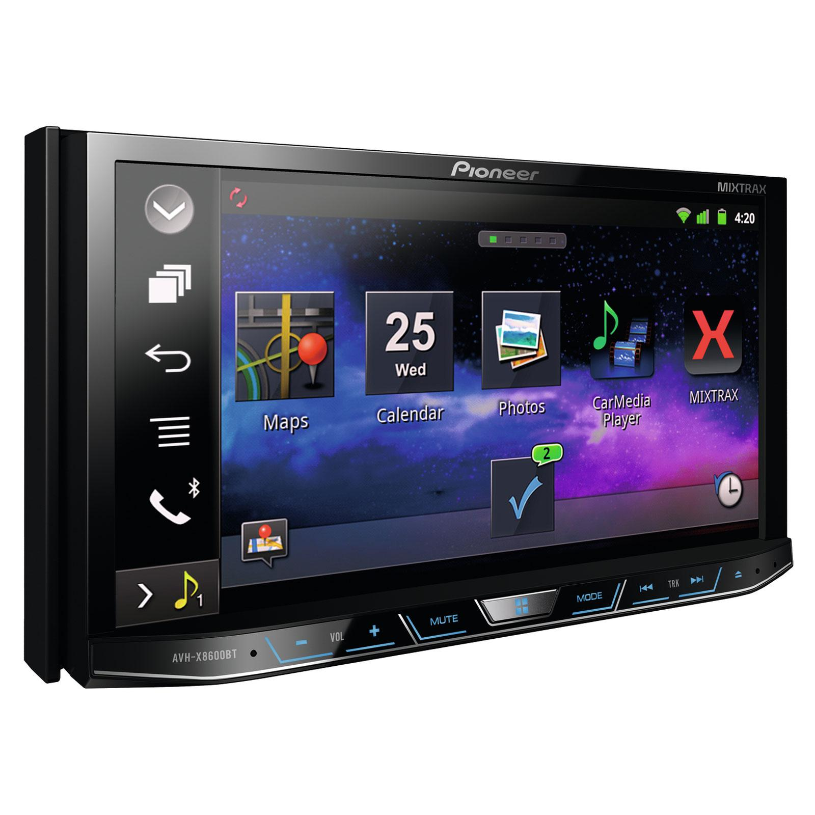 Autoradio dvd pioneer avh x8600bt 2din 222429 for Photo ecran android 7