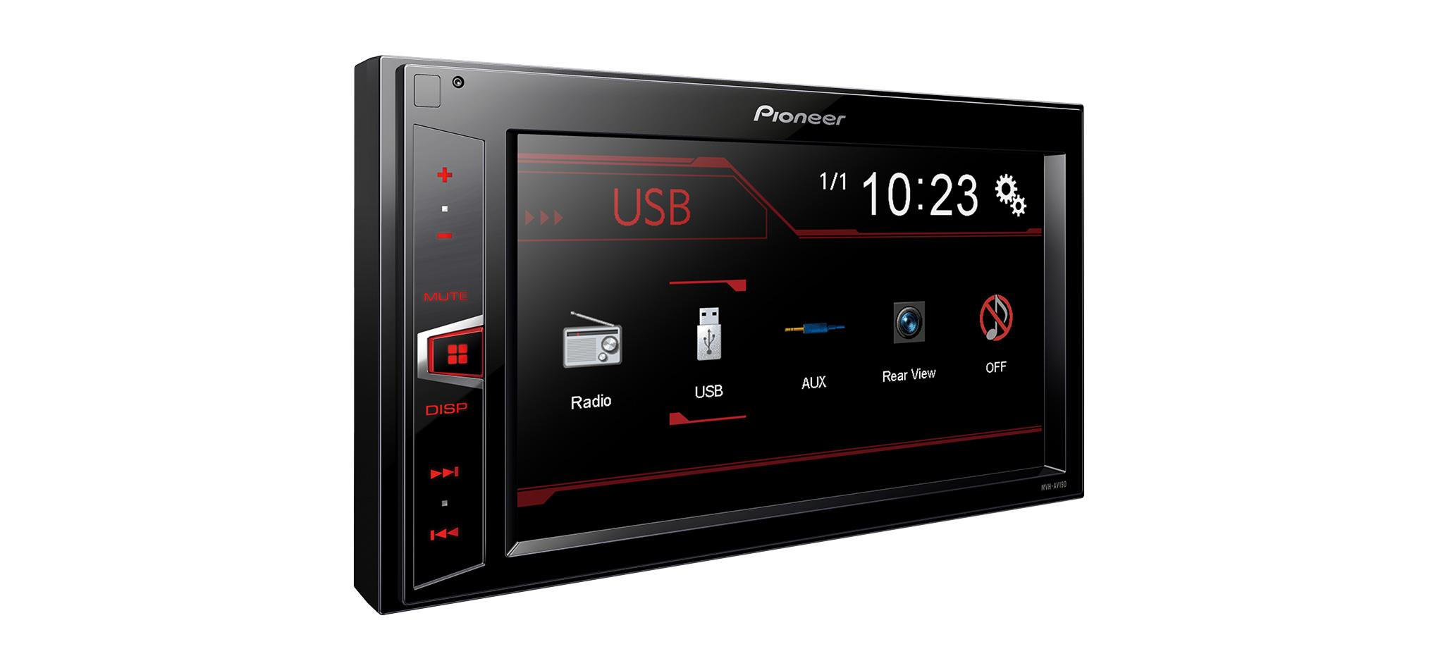 mvh av190 autoradio pioneer cd usb aux tuner ecran 2. Black Bedroom Furniture Sets. Home Design Ideas