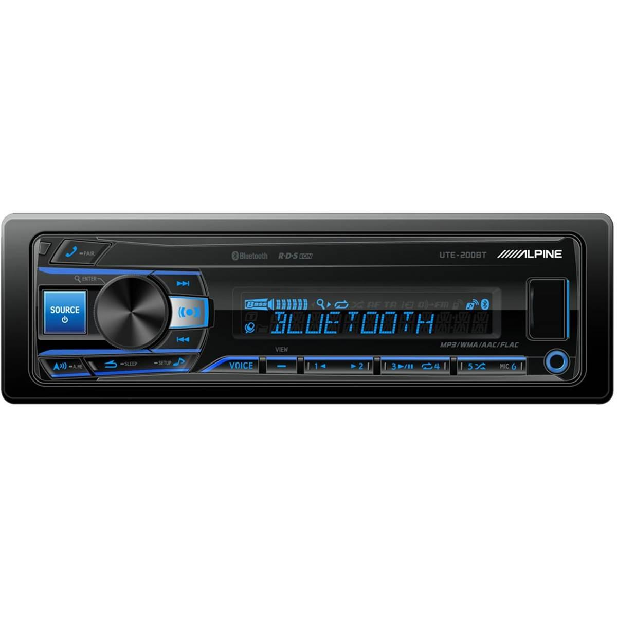 autoradio cd et mp3 alpine ute 200bt usb aux. Black Bedroom Furniture Sets. Home Design Ideas