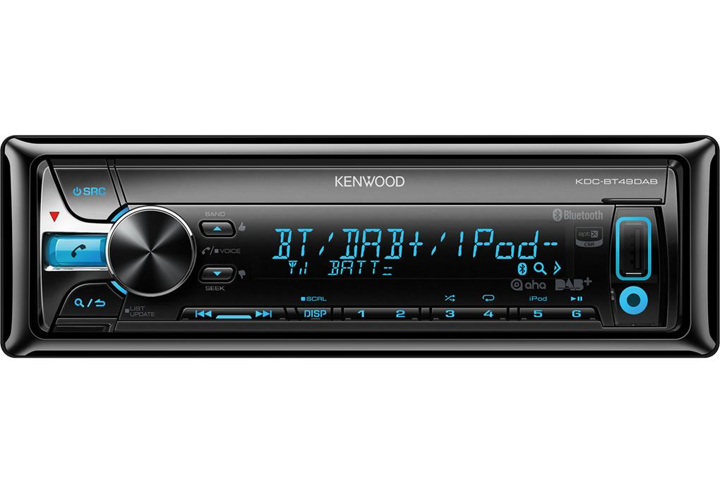 kdc bt49dab autoradio cd mp3 wma ipod usb dab bluetooth 4x50w 308963. Black Bedroom Furniture Sets. Home Design Ideas