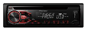 Autoradio CD MP3 Pioneer - DEH-1800UB - Autoradio CD MP3/WMA/FLAC - 4x50W - USB/AUX/Android - Rouge -> DEH-S100UB