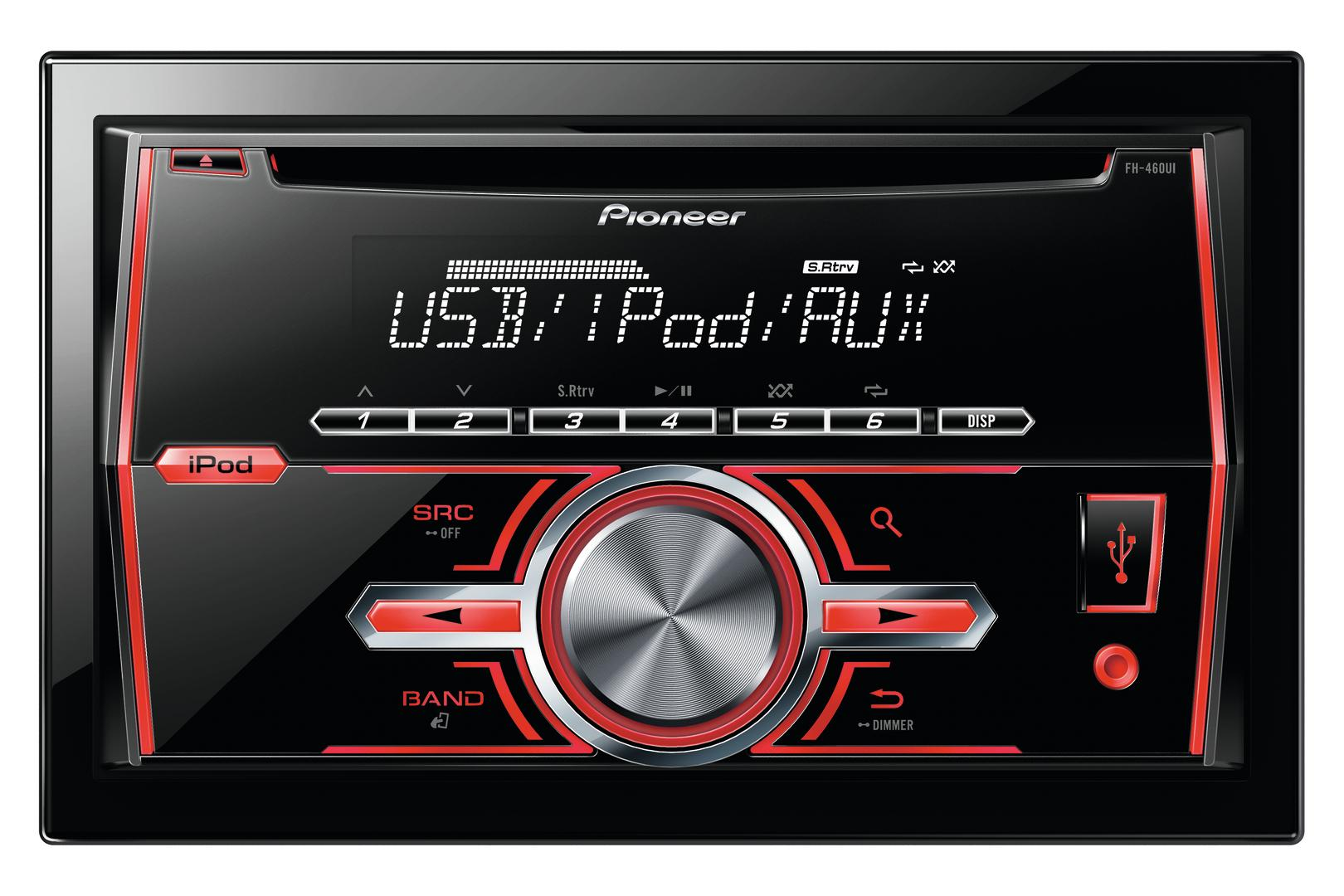 fh 460ui autoradio 2din cd mp3 wma iphone ipod. Black Bedroom Furniture Sets. Home Design Ideas