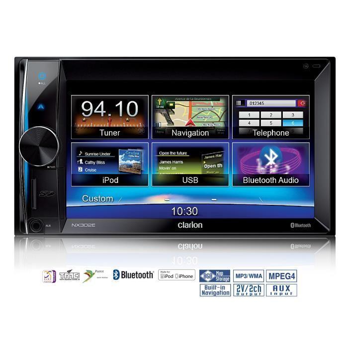 Clarion Nx302e Autoradio Gps 6 5p Usb Bluetooth Parrot