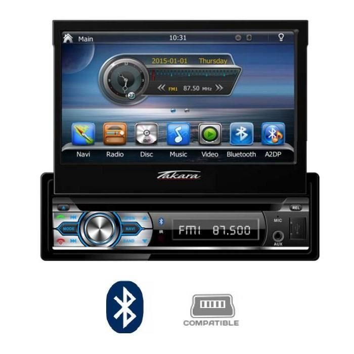 takara takara gpv1827bt autoradio 2din dvd gps usb bluetooth 7 270861. Black Bedroom Furniture Sets. Home Design Ideas