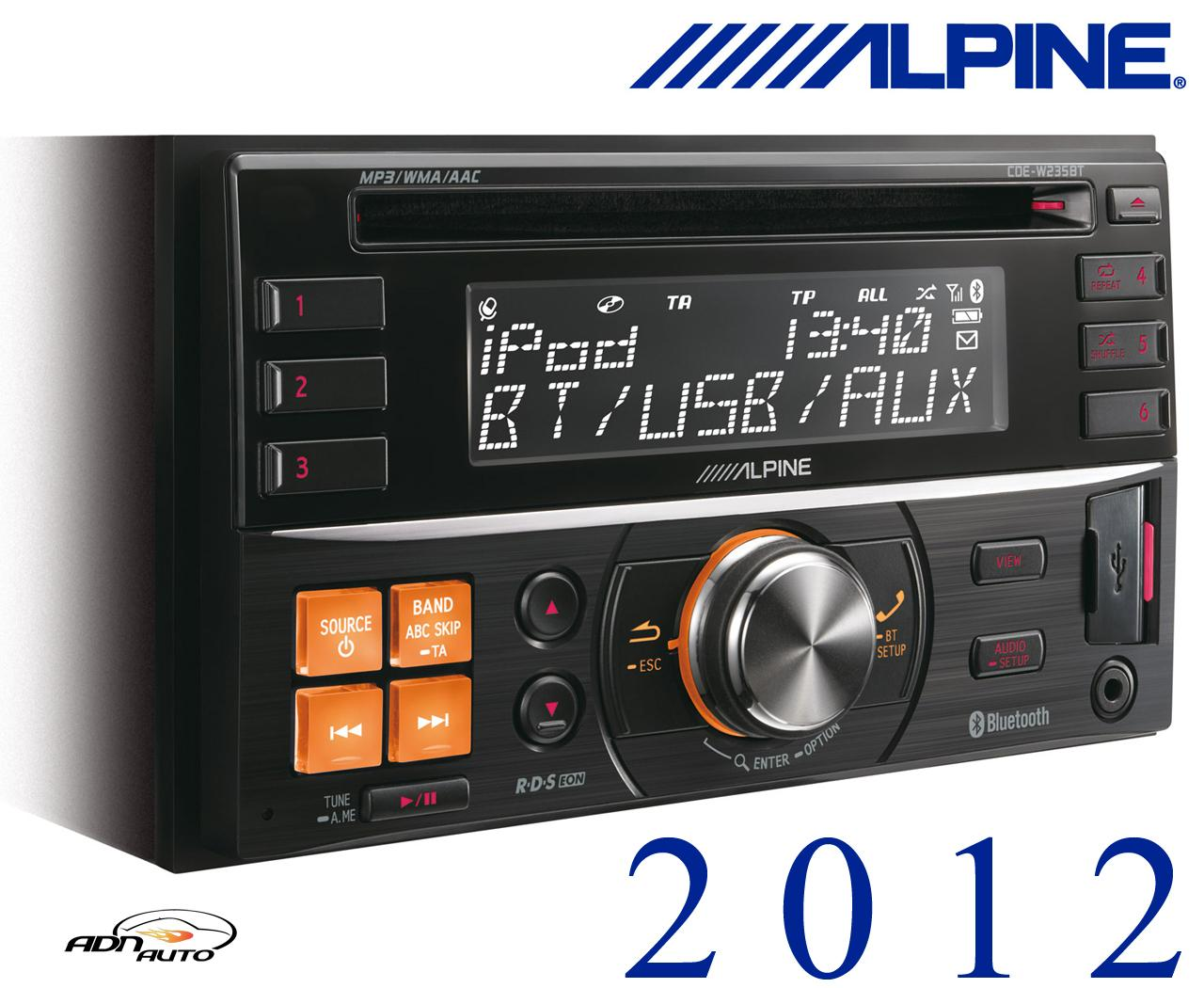 autoradio alpine cde w235bt autoradio 2din cd mp3 wma. Black Bedroom Furniture Sets. Home Design Ideas