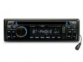 autoradio avec lecteur cd usb sd tuner fm sans fil bluethooth bleu 380869. Black Bedroom Furniture Sets. Home Design Ideas