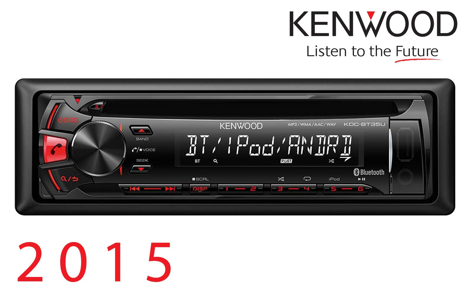 autoradio cd et mp3 kenwood kdc bt35u rouge bt. Black Bedroom Furniture Sets. Home Design Ideas