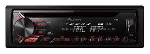 Autoradios CD-MP3 Pioneer - DEH-1900UB - Autoradio CD MP3/WMA/FLAC - 4x50W - USB/AUX/Android - Rouge -> DEH-S100UB - Promo BlackFriday