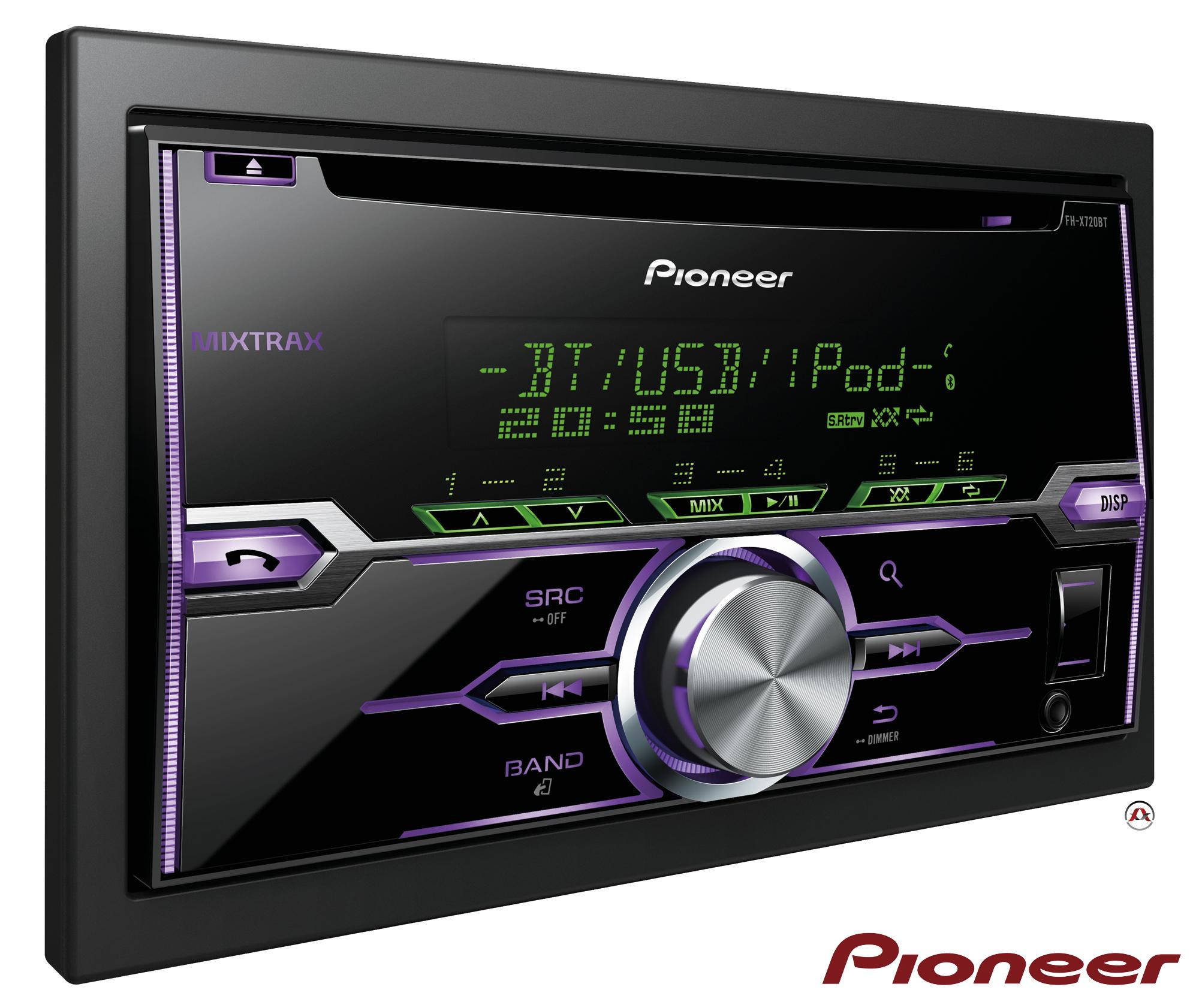 autoradio cd et mp3 pioneer fh x720bt. Black Bedroom Furniture Sets. Home Design Ideas