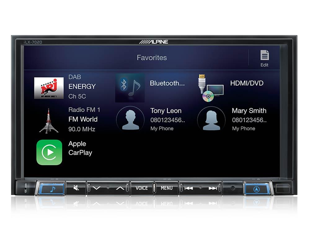 Autoradio dvd alpine ilx 702d carplay and for Photo ecran android 7
