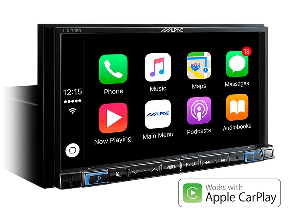 autoradio dvd alpine ilx 702d carplay and. Black Bedroom Furniture Sets. Home Design Ideas