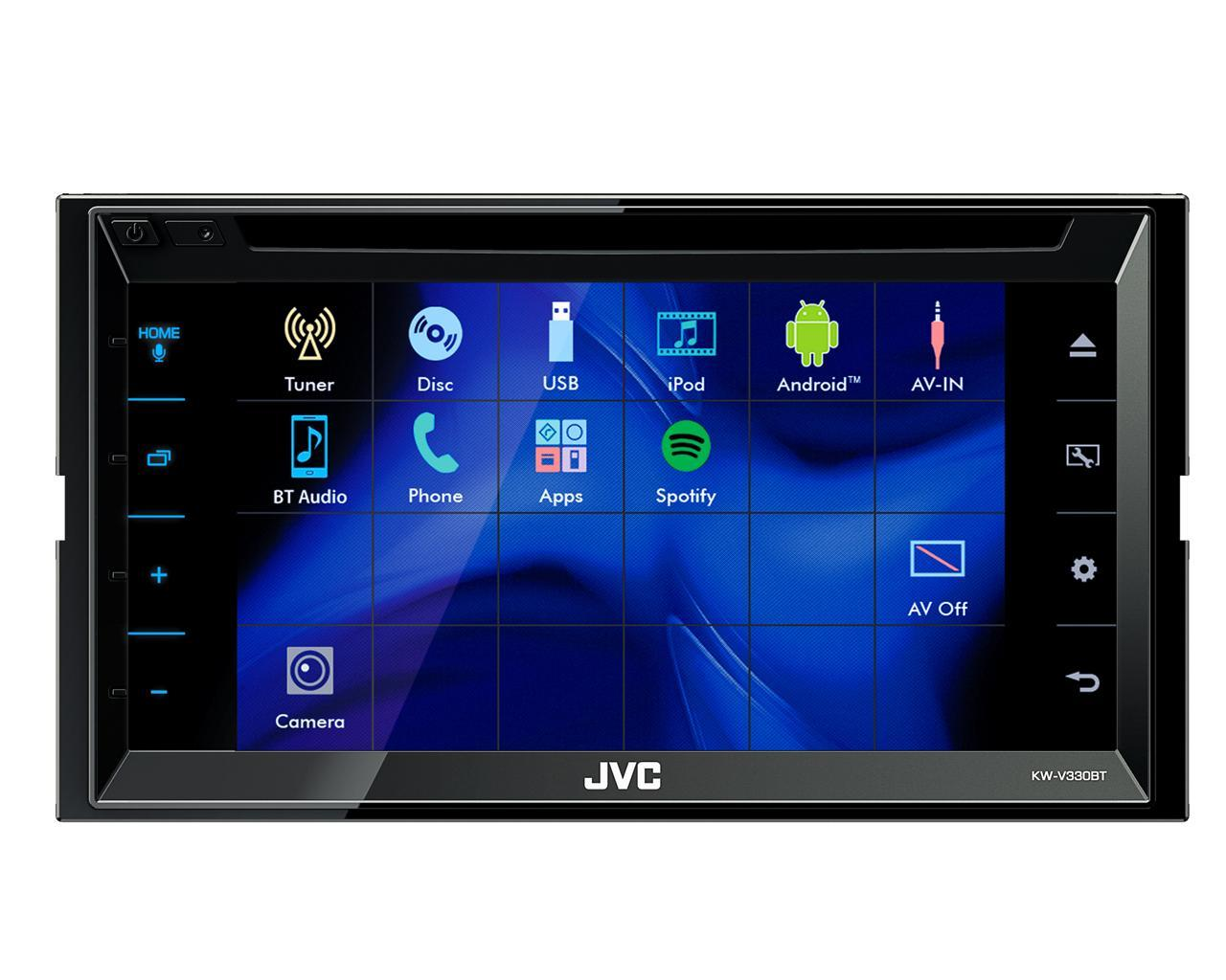 jvc autoradio multimedia 2 din bluetooth 6 8 pouces kw v330bt 455581. Black Bedroom Furniture Sets. Home Design Ideas