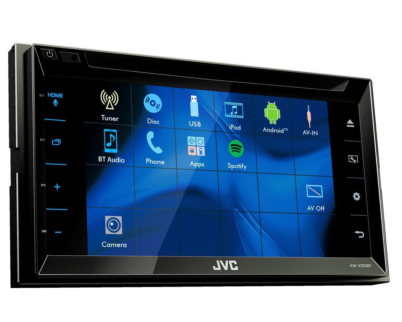 jvc autoradio multimedia 2 din bluetooth 6 8 pouces kw v330bt 455581. Black Bedroom Furniture Sets. Home Design Ideas