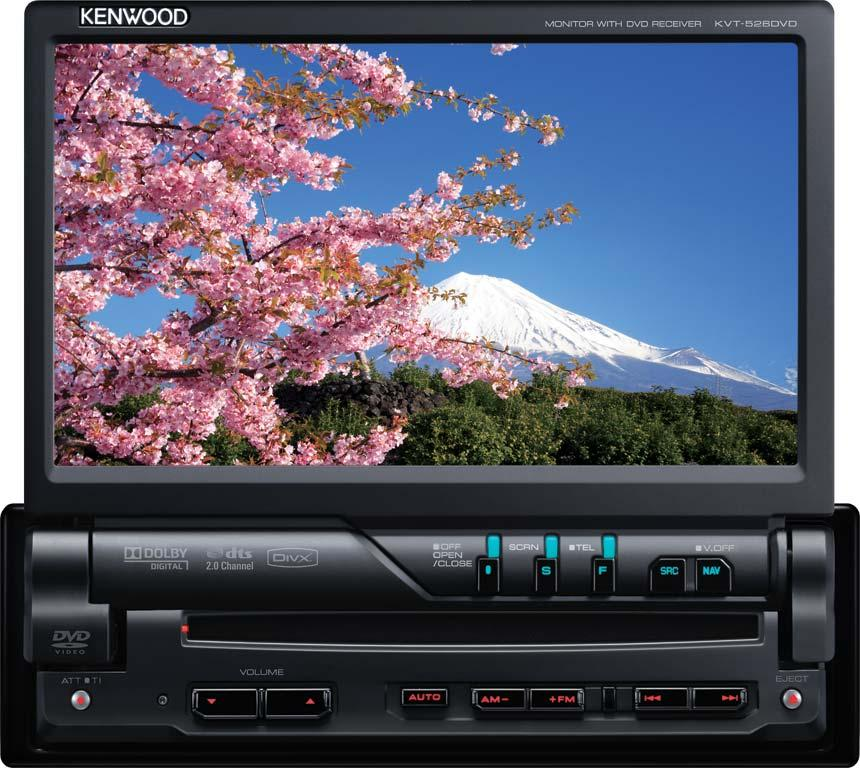autoradio dvd kenwood kvt 526dvd 1din 128936. Black Bedroom Furniture Sets. Home Design Ideas