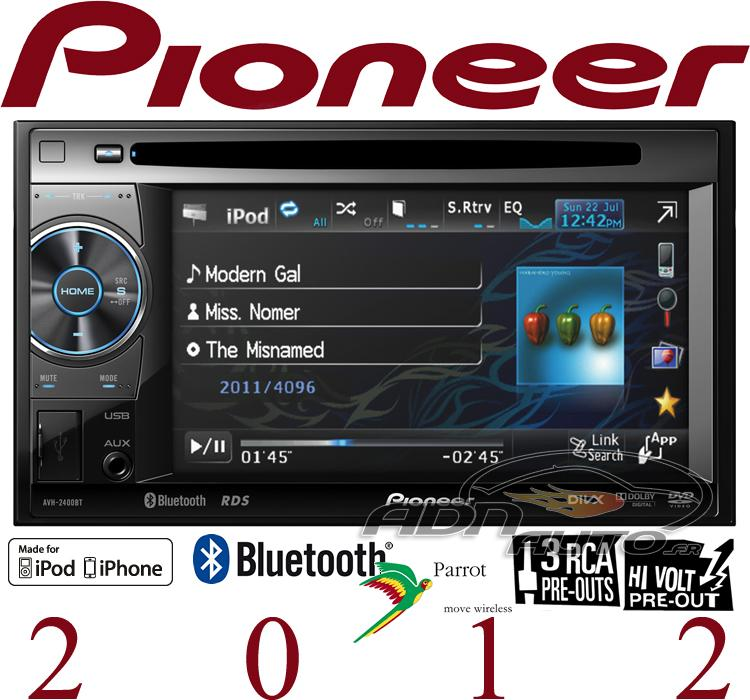 avh 2400bt autoradio 2din dvd mp3 divx bluetooth. Black Bedroom Furniture Sets. Home Design Ideas