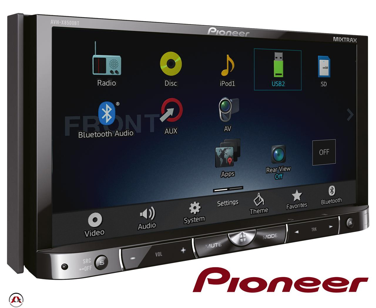 autoradio dvd pioneer avh x8500bt 2din 198409. Black Bedroom Furniture Sets. Home Design Ideas