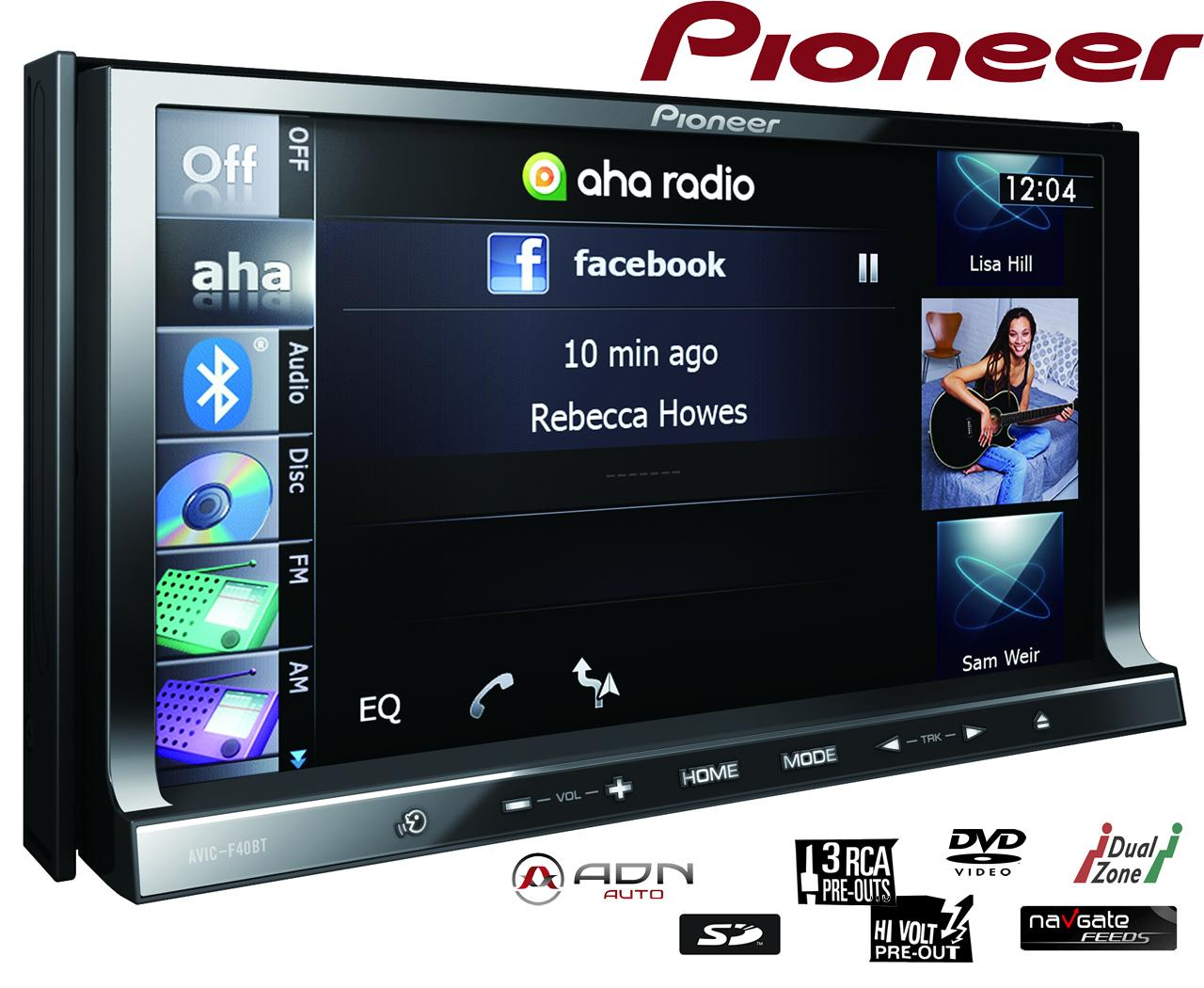 autoradio dvd pioneer avic f40bt 2din 149719. Black Bedroom Furniture Sets. Home Design Ideas