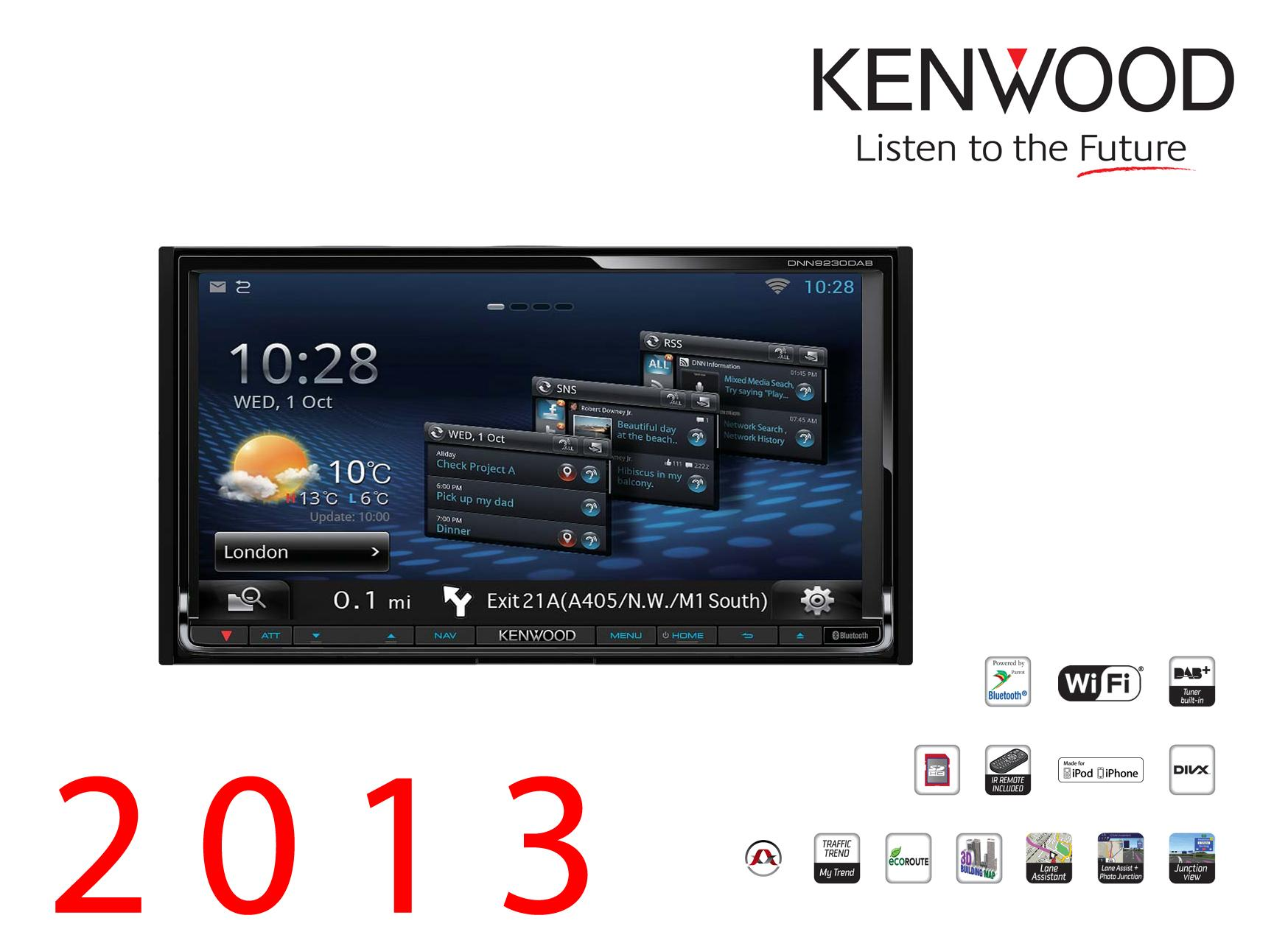 autoradio navigation avec gps kenwood dnx9230dab 202424. Black Bedroom Furniture Sets. Home Design Ideas
