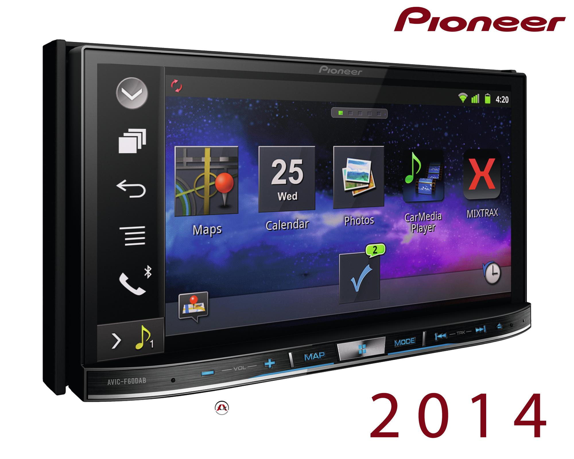 autoradio navigation avec gps pioneer avic f60dab nex 2014. Black Bedroom Furniture Sets. Home Design Ideas
