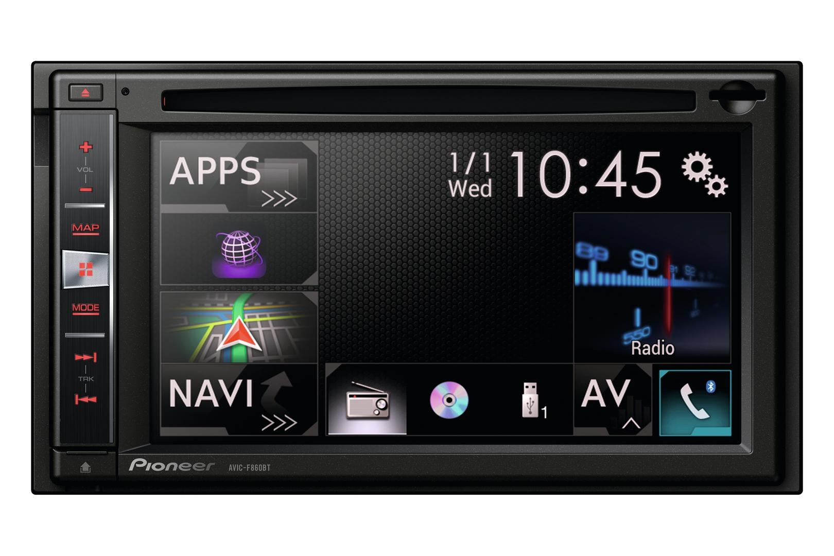 autoradio navigation avec gps pioneer avic f860bt nex 216545. Black Bedroom Furniture Sets. Home Design Ideas