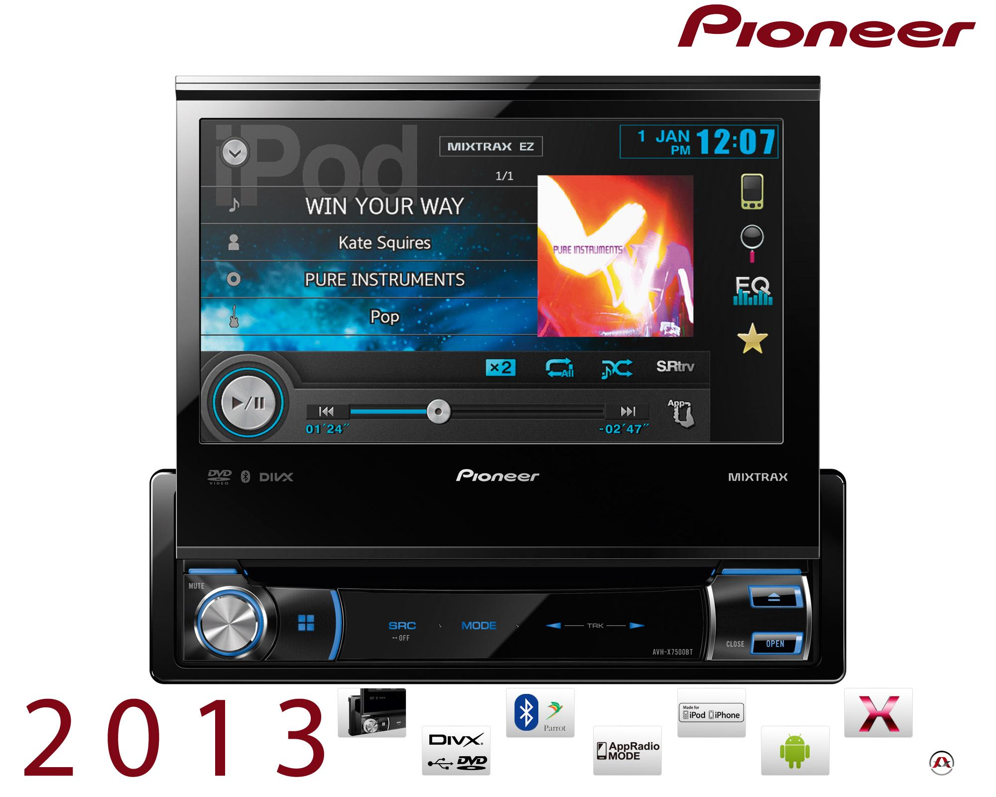 autoradio navigation avec gps pioneer navgate 75bt t 207943. Black Bedroom Furniture Sets. Home Design Ideas