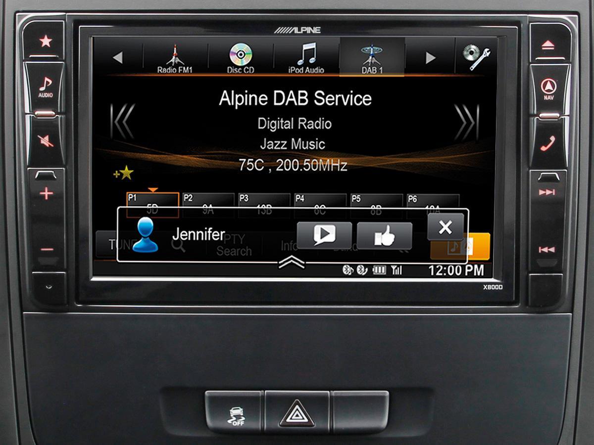x800d v447 systeme multimedia gps premium alpine pour mercedes vito v447 305670. Black Bedroom Furniture Sets. Home Design Ideas