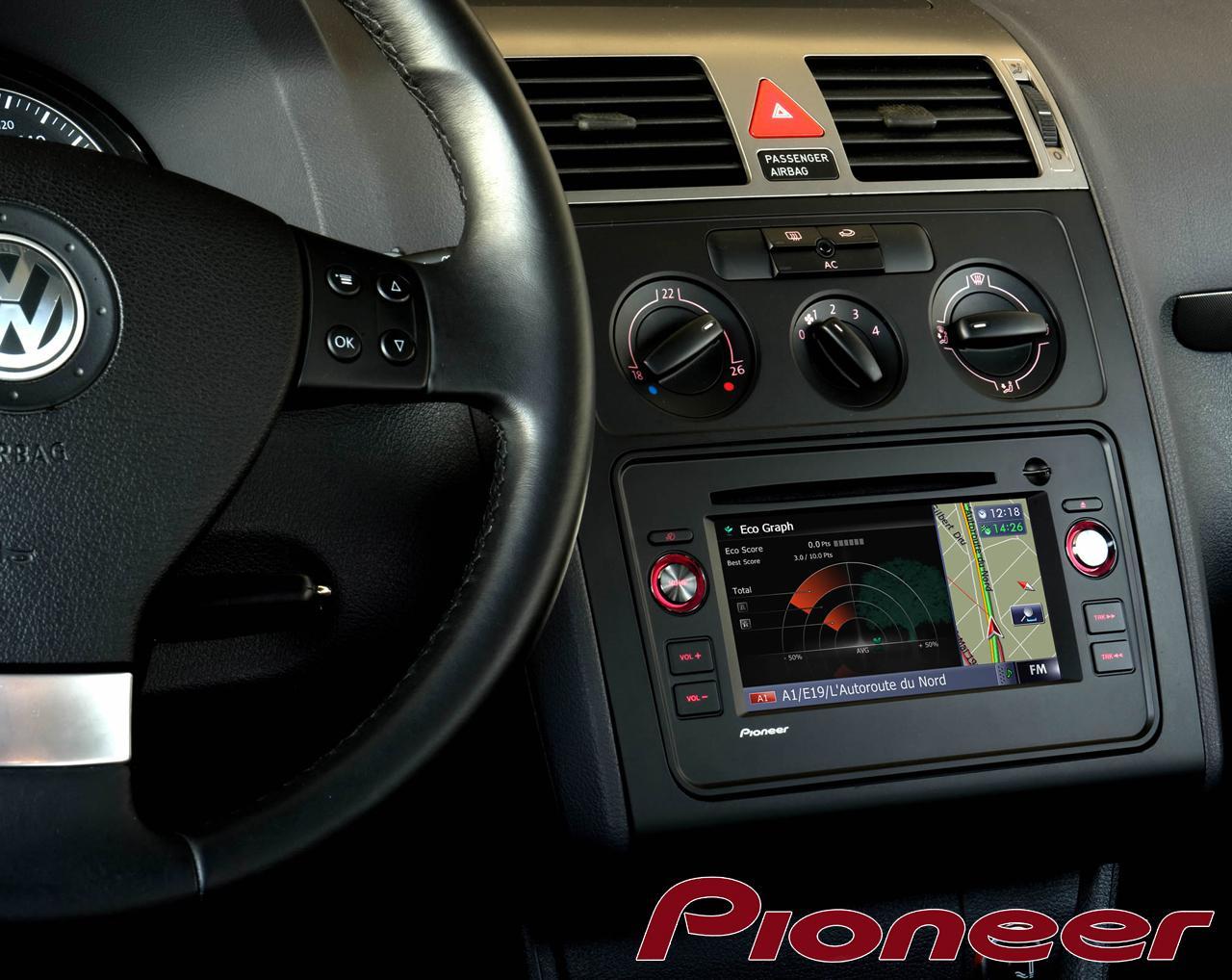 autoradio navigation avec gps pioneer avic f9310bt vw seat 157979. Black Bedroom Furniture Sets. Home Design Ideas