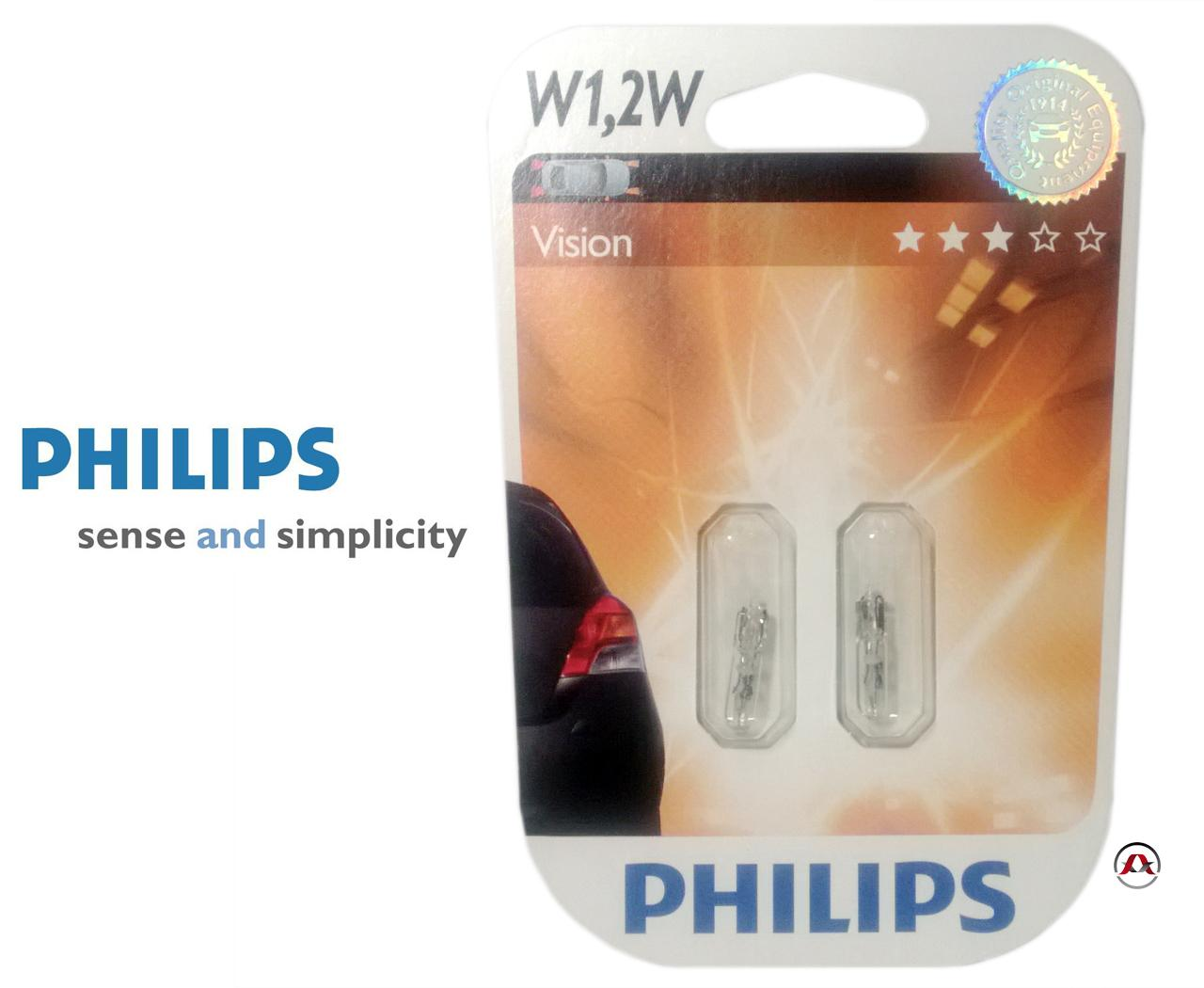 ampoule voiture wedgebase philips w1 2w vision philips. Black Bedroom Furniture Sets. Home Design Ideas