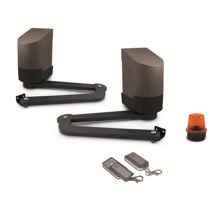 avidsen kit de motorisation a bras articules pour portail a 2 battants max 24v orane. Black Bedroom Furniture Sets. Home Design Ideas