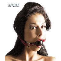 Baillonner Zado - Baillon boule en cuir - Rouge - Taille 65cm