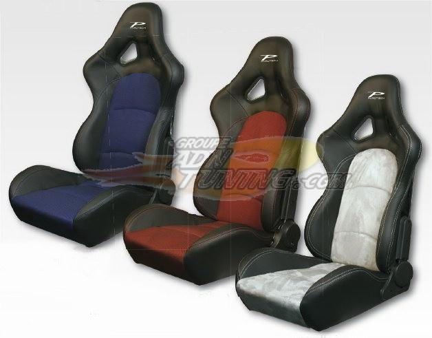 parotech siege baquet forza look cuir alcantara gris 70276. Black Bedroom Furniture Sets. Home Design Ideas