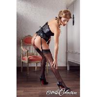 Bas Cottelli - Bas nylon avec couture - Noir - Taille  L