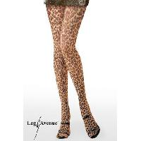 Bas et Collants Leg Avenue - Collant Leopard - Leopard - Taille TU