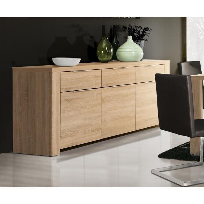 aucune calpe buffet 219 x 83 cm chene sonoma clair 281094. Black Bedroom Furniture Sets. Home Design Ideas
