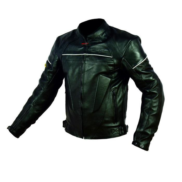rider tec blouson moto cuir street protections ce 324815. Black Bedroom Furniture Sets. Home Design Ideas