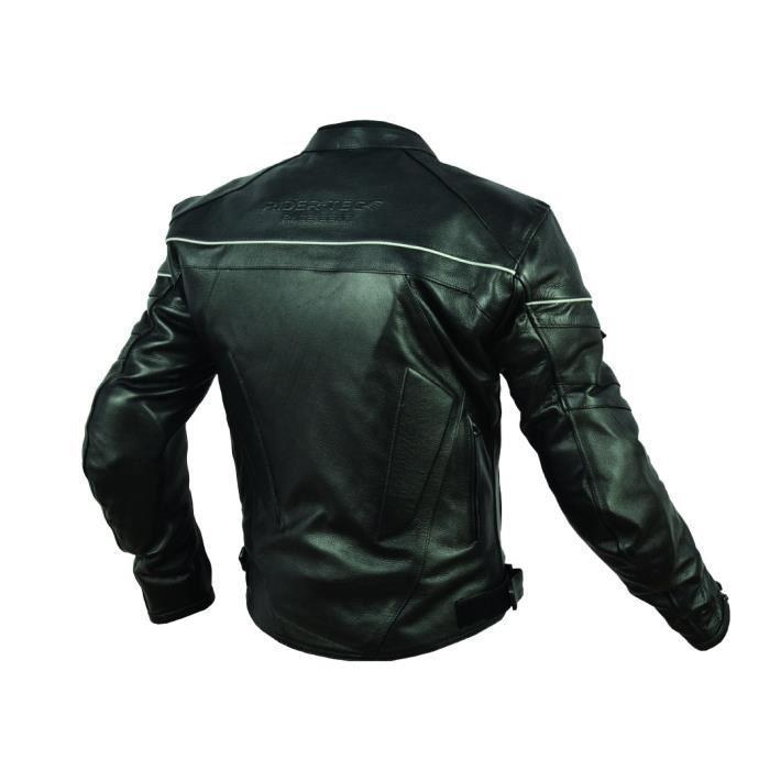 rider tec blouson moto cuir street protections ce 324812. Black Bedroom Furniture Sets. Home Design Ideas