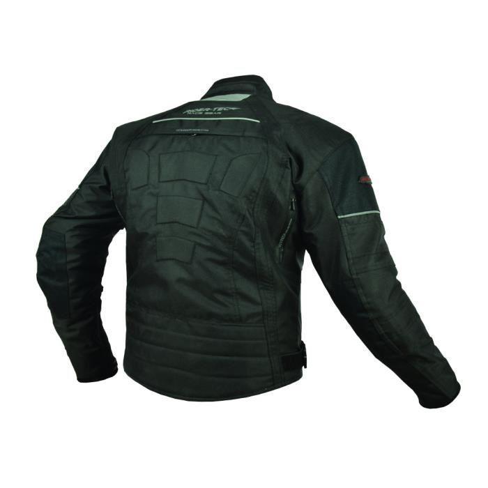 rider tec blouson moto textile noir protections ce 324800. Black Bedroom Furniture Sets. Home Design Ideas