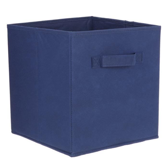 aucune compo tiroir de rangement tissu bleu 27x27x28 cm. Black Bedroom Furniture Sets. Home Design Ideas