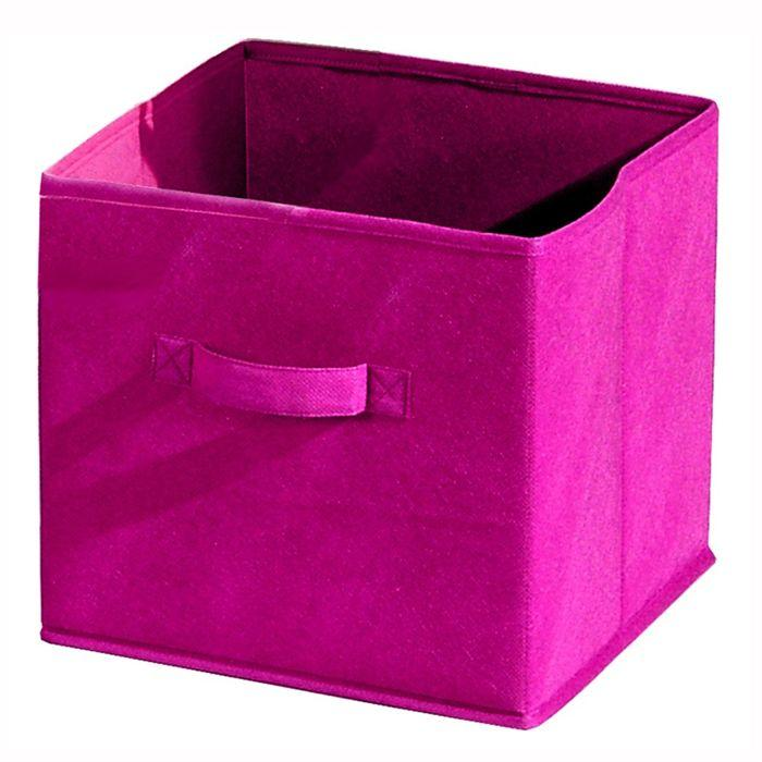 aucune compo tiroir de rangement tissu fuchia 27x27x28 cm 233924. Black Bedroom Furniture Sets. Home Design Ideas