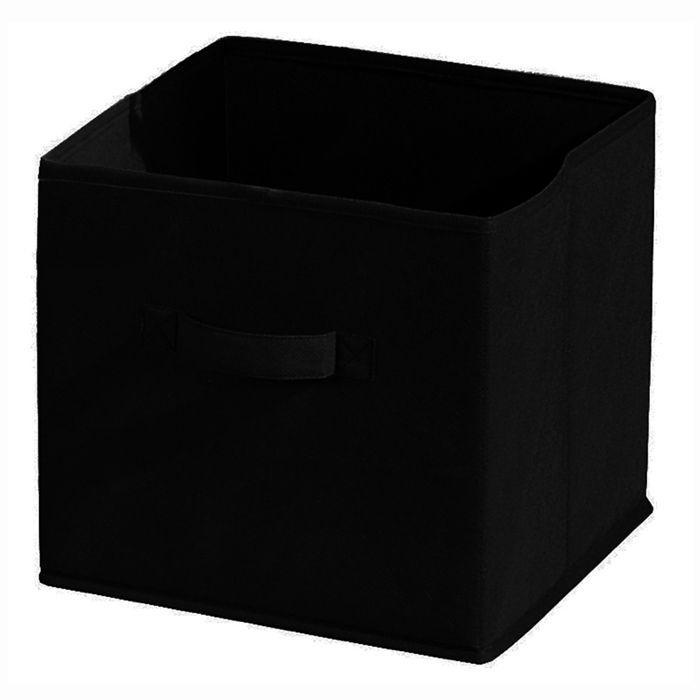 aucune compo tiroir de rangement tissu noir 27x27x28 cm. Black Bedroom Furniture Sets. Home Design Ideas