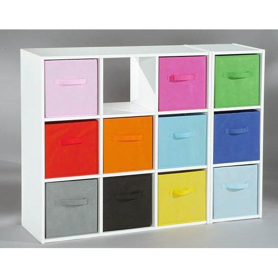 aucune compo tiroir de rangement tissu orange 27x27x28. Black Bedroom Furniture Sets. Home Design Ideas