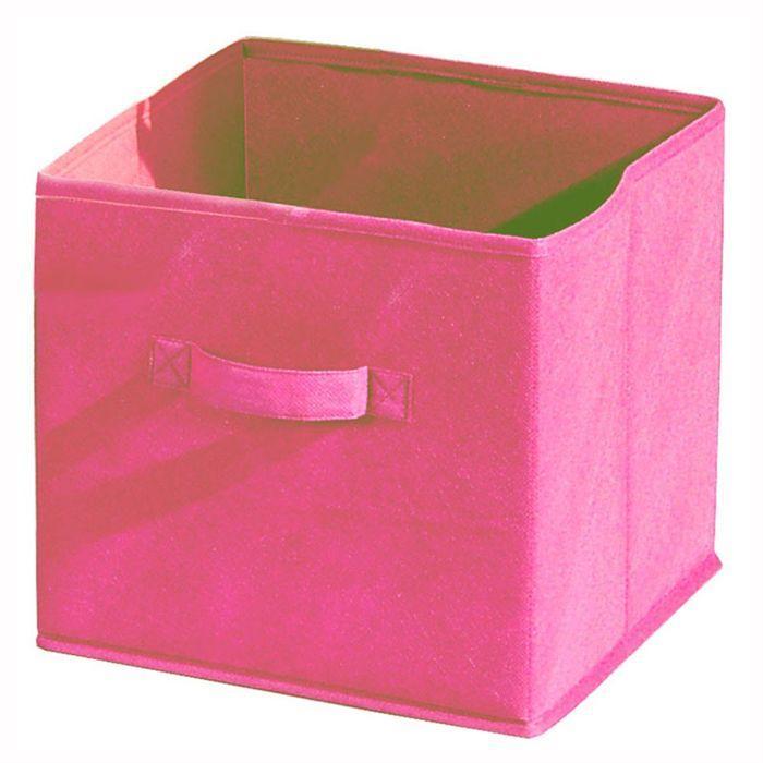 aucune compo tiroir de rangement tissu rose 27x27x28 cm. Black Bedroom Furniture Sets. Home Design Ideas