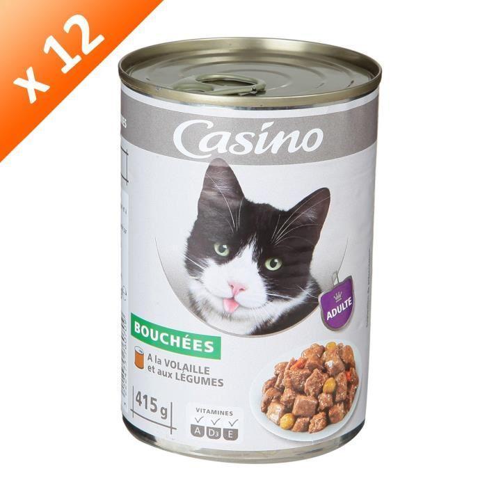 Casino casino bouch es de volailles et l gumes pour chat x12 398777 - Herbe a chat seche ...