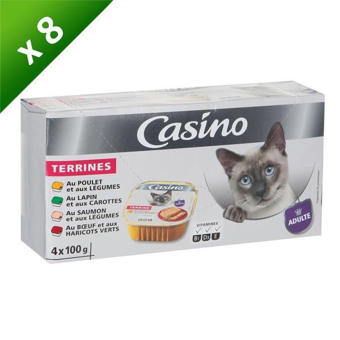 Casino lot de barquette aux viandes et poissons pour chat x8 398791 - Herbe a chat seche ...