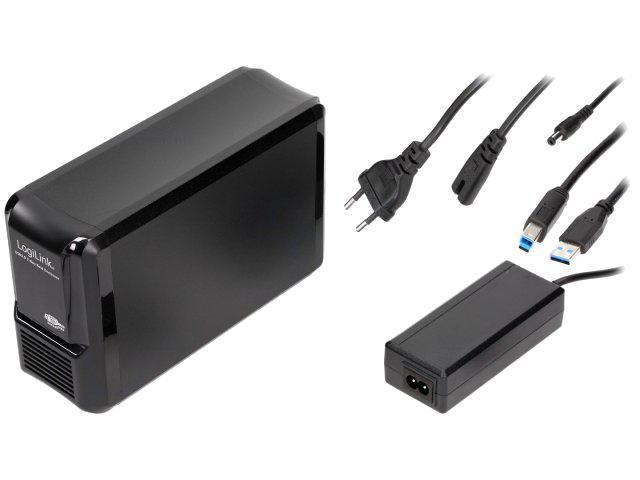 logilink boitier externe pour disque dur sata noir 2 baies 296564. Black Bedroom Furniture Sets. Home Design Ideas