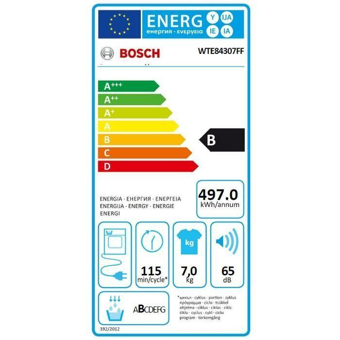 bosch bosch wte84307ff seche linge condensation 7 kg 310994. Black Bedroom Furniture Sets. Home Design Ideas