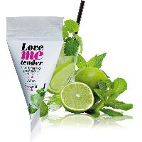Bougie de massage Love To Love - Berlingot d'huile de massage saveur Mojito - 10 ml